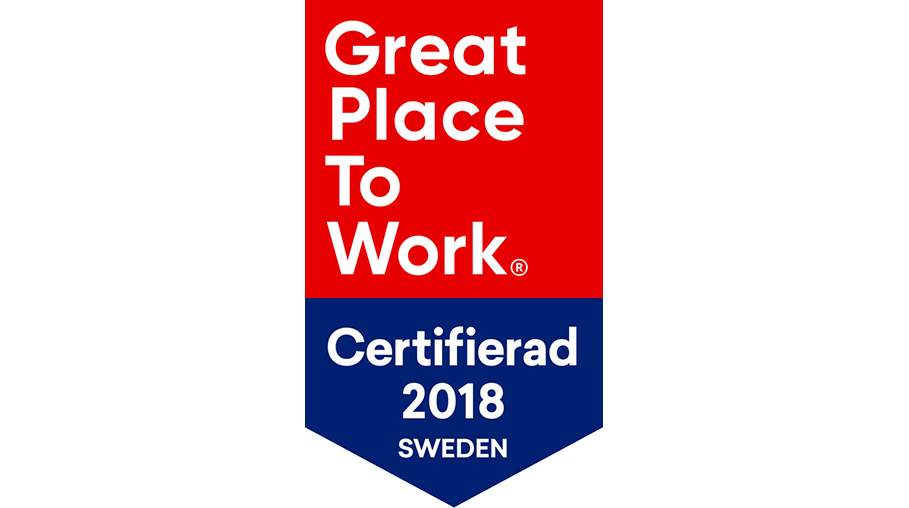 Great Place To Work, certifierad 2018