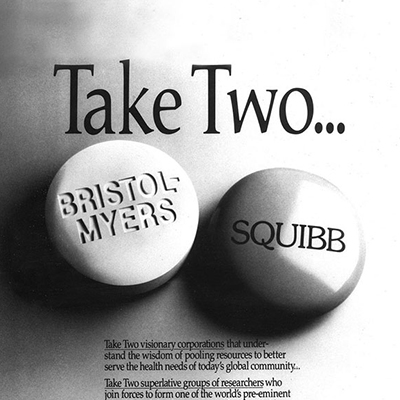 BRISTOL MYERS AND SQUIBB MERGE