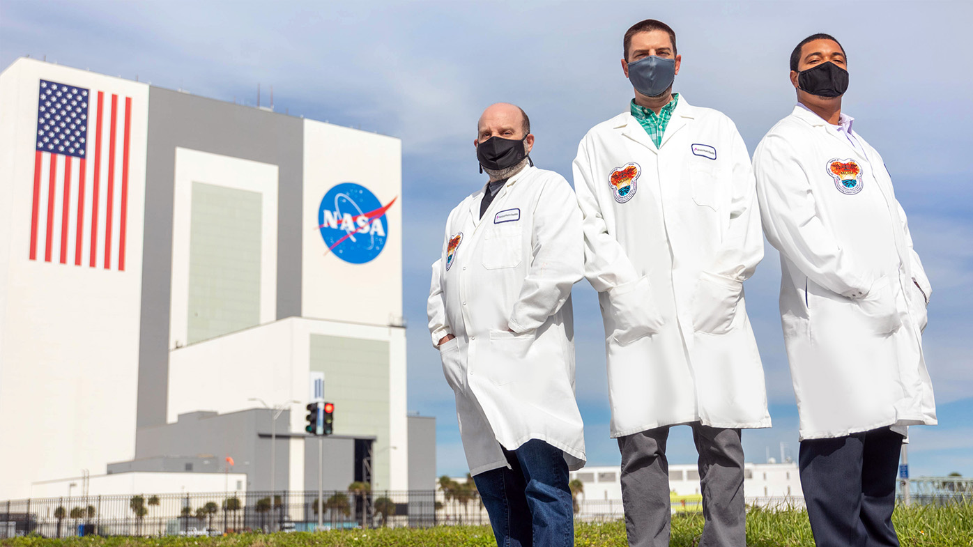 Three members of the company research team were on site at Kennedy Space Center in Florida