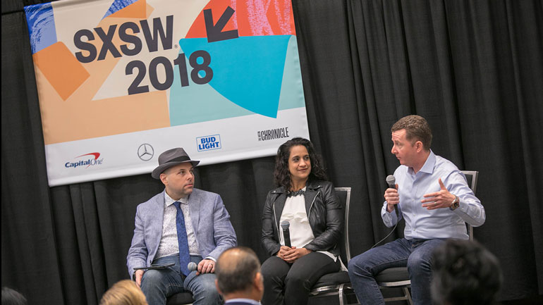 Matthew Zchary, Murdo Gordon and Mona Zaveri at SXSW 2018