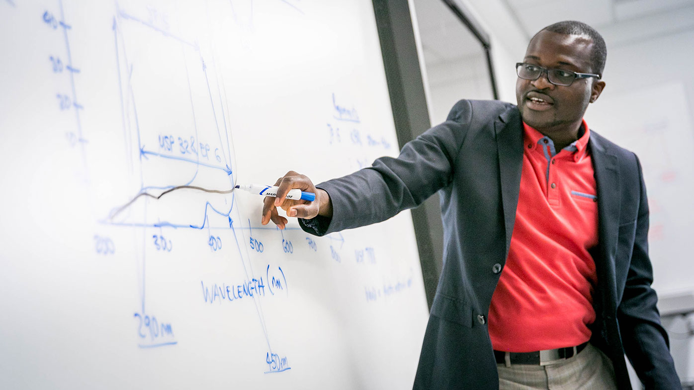 Packaging engineer Yusuf Oni was inspired to come work for Bristol-Myers Squibb after being diagnosed with cancer.