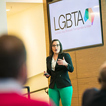 Silka Rodriguez, a tri-chair of the LGBTA People and Business Resource Group.